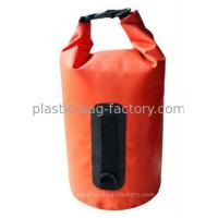 China 10L Orange Water-Tight Dry Tube Bags for Hiking Swimming Canoeing Rafting on sale