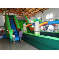 Multicolored Inflatable Water Slide And Pool , Kids Water Slides Games With