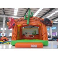 China Wild West Big Bounce House Customized , Digital Painting Huge Bounce House on sale