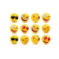 Wholesale PVC Emoji Inflatable Beach Ball 0.18mm Thick Eco Friendly Material Children Play from china suppliers