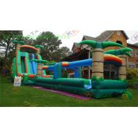 Wholesale Adults Inflatable Water Slide With Long Slip , outdoor inflatable slide from china suppliers