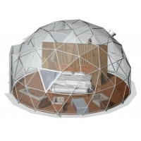 China Outdoor Transparent 4m Inflatable Bubble Tent with Steel Frame on sale