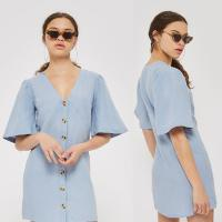 Buy cheap High Quality Wholesale Breathable Soft Loose Casual Shirt Dress Cotton from wholesalers