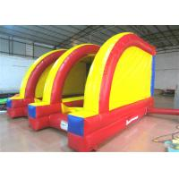 China Classic Inflatable Soccer Stadium Shooting Games 5 X 4m , Bounce House Indoor Playground on sale