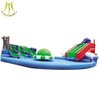 China Hansel amusement large inflatable pool slide for family game center on sale