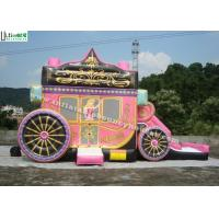 China Kids Party Princess Carriage Bounce House With Slide , Made Of 1st Class PVC Tarpaulin on sale