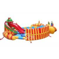 China China dragon slide kids N adults giant inflatable water park with big castle for sale on sale