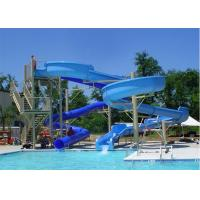 Wholesale Fiberglass Spiral Water Slide , Hotle Water Playground Classic Water Slides from china suppliers
