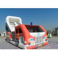 Buy cheap Race Car Jumping Inflatable Dry Slide Boys Playground High Resolution Digital from wholesalers