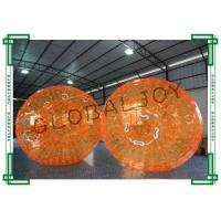 China Orange Inflatable Human Hamster Ball for Water , Inflatable Rolling Ball on sale