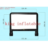 Wholesale 0.65 mm PVC tarpaulin 6*4 m Outdoor Inflatable Movie Screen from china suppliers