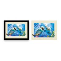 Wholesale Home Decoration 3D Lenticular Printing Service 12x16 Inch Framed Dolphin Picture Wall Arts from china suppliers