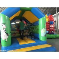 Durable Inflatable Kids / Childrens Bouncy Castle With Slide Safety Fire Proof