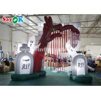 Wholesale 5*4m Oxford Cloth Inflatable Halloween Entrance Archway with Led Lights from china suppliers