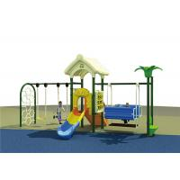 Wholesale Plastic Childrens Swing Set , Outdoor Swing And Slide Set For Backyard Playground from china suppliers