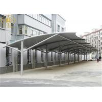 Wholesale Prefabricated Car Parking Shade 30*6M White Car Park Shade Structures from china suppliers