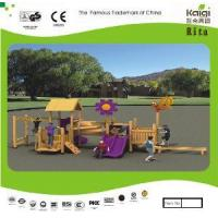 Wholesale Outdoor Wooden Playground (KQ10153A) from china suppliers
