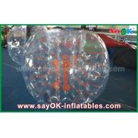 Wholesale Adult 1.5m DIA Inflatable Zorb Ball , Transparent Human Bubble Soccer TPU / PVC from china suppliers