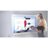 Wholesale White Color Interactive Showcase Display Screen For Clothes Advertising from china suppliers
