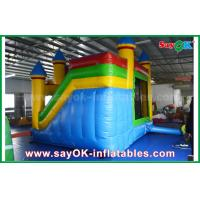 China Children Blue / Yellow Commercial Inflatable Bounce House With Slide 3 Years Warranty on sale