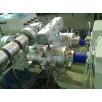 Double Outlet PVC Pipe Extrusion Line , ABB Inverter PPR Pipe