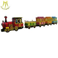 Wholesale Hansel fun shopping mall amusement park ride children trackless train fiberglass body from china suppliers