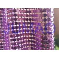 Quality Rust Proof Metal Sequin Fabric No Electrical Conductivity For Ceiling Decorations for sale
