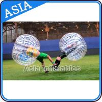 China Trendy Rubber Inflatable Ball Suit For Football Competition , Inflatable Bubble Football Suit on sale