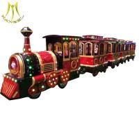 Wholesale Hansel  outdoor park kids train battery operated backyard amusement trackless train rides from china suppliers