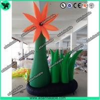 Quality 4m Event Party Decoration Oxford Inflatable Orange Flower Holiday Advertising Flower for sale