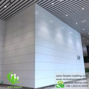 Wholesale Aluminum facade cladding powder coated white PVDF finish aluminum sheet from china suppliers