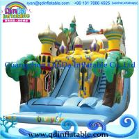 Wholesale Commercial inflatable water slide,18oz giant inflatable corkscrew water slides for sale from china suppliers