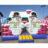 Wholesale Inflatable Party Combo Jumping Castle Snowman Archway Christmas Moonwalk from china suppliers