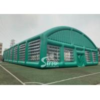 Wholesale 37x19m big sports arena air sealed inflatable tent with transparent windows N removable doors from china suppliers