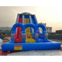 Buy cheap 0.55mm PVC Outdoor Inflatable Water Slide Into Pool / Giant Slip N Slide from wholesalers