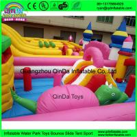 Wholesale Funny inflatable Circus amusement park,Giant inflatable clown fun city,Inflatable bouncer castle with slides from china suppliers