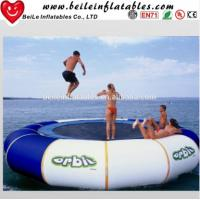 Wholesale Gaint blue and white PVC tarpaulin Water Buoy Inflatable Mattress to adult Jump on Water from china suppliers