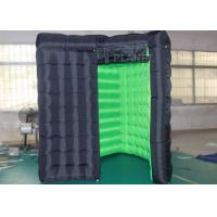 Quality Special Shape Black Inflatable Led Photo Booth 8 X 8 X 8 Ft For Event for sale
