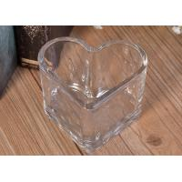 Wholesale Wholesale bulk heart glass candle making tealight holders for wedding from china suppliers