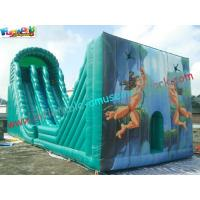 Wholesale Hot Giant Rent Inflatable Slide / Tarzan Inflatable Zip Line Slide Slip Game For Sports from china suppliers