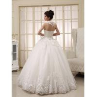 Quality White Heart Shaped Ladies Halter Neck Wedding Dresses Princess Wedding Gowns for sale