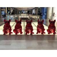 Wholesale Painted Fiberglass Pig Statue Red Color Cool Design For Shopping Mall Decor from china suppliers