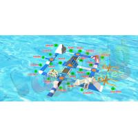 China Tarpaulin Inflatable Water Toys Floating Water Park With Air Pump on sale