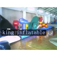 Wholesale 0.9mm PVC Tarpaulin Inflatable Bounce House Water Slide For Swimming Pool from china suppliers