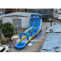 China 15mL Fun Inflatable Swimming Pool For Kids / above ground pool slides on sale
