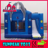 COM-280 Popular Dolphin Jumping Castles Inflatable Water Slide