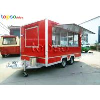 Quality Street Square Mobile Food Trailer  Stainle Steel Food Vending Carts Various Colors for sale