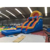 Wholesale Professional Fireproof Double Water Slide With Splash Pool 3 Years Warrenty from china suppliers