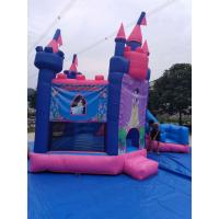 Wholesale Pink Princess Girl Inflatable Bounce House Combo Double Stitching 4Mx 4M X 4M from china suppliers