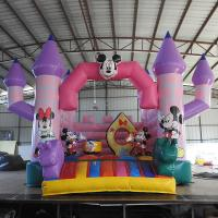 China Tarpauline Inflatable Toy For Kids / Inflatable Camelot Bounce House Mickey Theme on sale